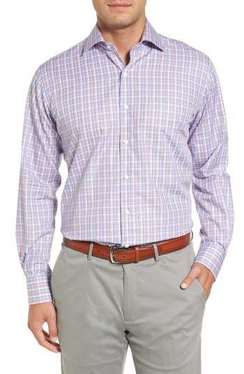 Men's Peter Millar Alpine Regular Fit Plaid Sport Shirt