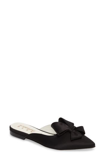 Something Bleu Prince Bow Loafer Mule- Black
