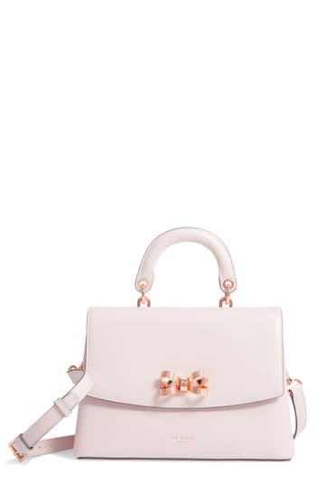 Ted Baker London Lauree Looped Bow Leather Satchel - Pink
