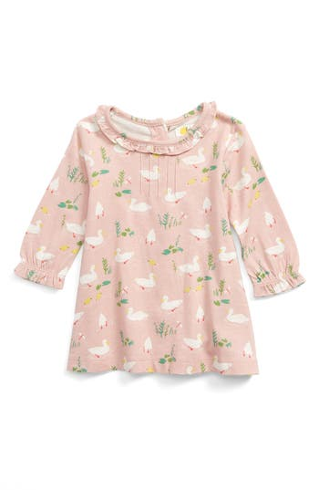 Toddler Girl's Mini Boden Pretty Print Jersey Dress