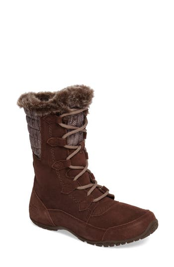 The North Face Nuptse Purna Ii Waterproof Primaloft Silver Eco Insulated Winter Boot, Brown
