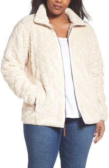 Plus Size Columbia Fireside Fleece Jacket, Ivory