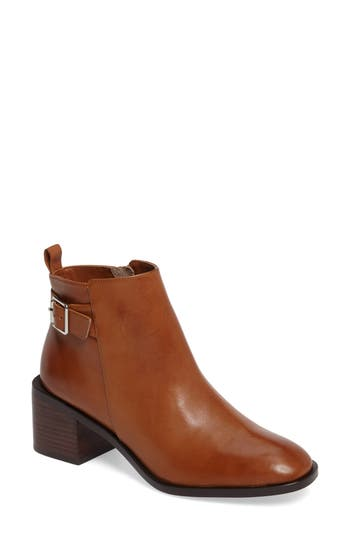 Linea Paolo Paige Block Heel Boot- Brown