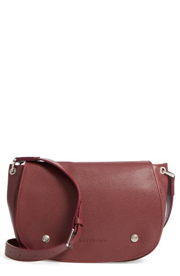 Longchamp Small Le Foulonne Leather Saddle Bag - Red In Red Lacquer 2e36d5f1e73ee