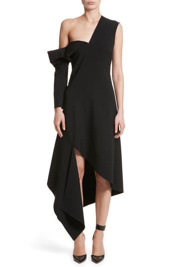 Women's Monse Double-Face Stretch Wool One-Shoulder Dress
