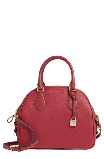 Michael Michael Kors Large Briar Leather Satchel - Red