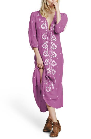 Free People Embroidered Maxi Dress, Purple