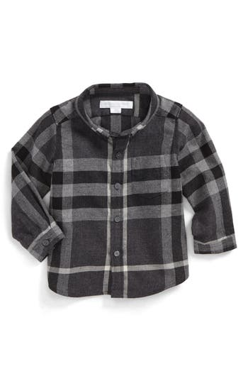 Infant Boy's Burberry Mini Fred Check Woven Shirt