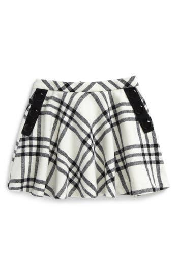 Girl's Kate Spade New York Plaid Wool Blend Skirt