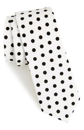 1950s Men's Ties – Vintage, Skinny, Knit, Pattern Neckties Mens 1901 Montrose Dot Cotton Skinny Tie $9.49 AT vintagedancer.com