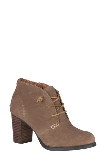 Sperry Dasher Gale Lace-Up Bootie, Beige