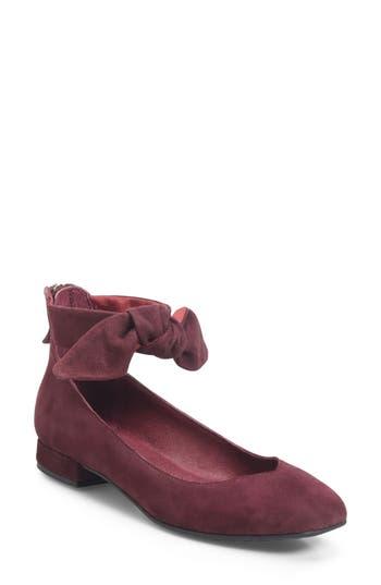 Women's Ono Hosta Ankle Bow Flat, Size 6 M - Burgundy
