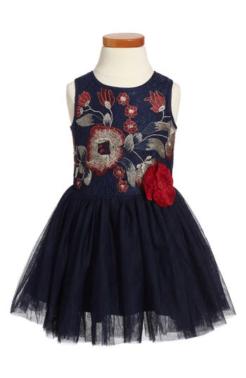 Girl's Pippa & Julie Embroidered Tutu Dress