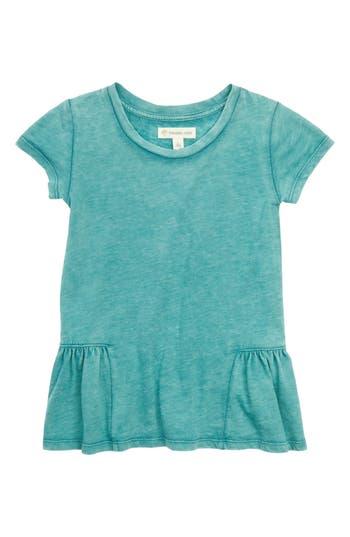 Girl's Tucker + Tate Peplum Tee, Size 4 - Blue/green