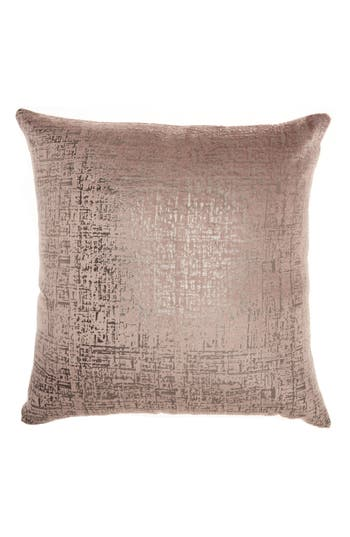 Mina Victory Distressed Velvet Accent Pillow, Size One Size - Beige