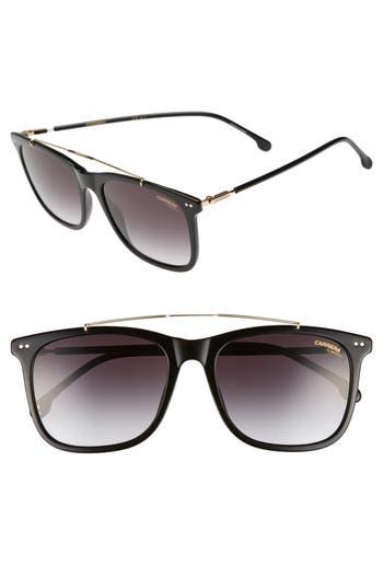 Carrera 150/s 55Mm Sunglasses - Black/ Dark Gray Gradient