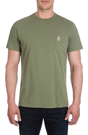 Men's Psycho Bunny Langford Garment Dye T-Shirt, Size X-Small - Green