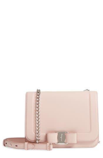 Salvatore Ferragamo Vara Leather Crossbody Bag - Pink