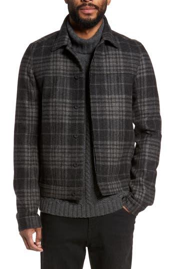 Men's Vince Plaid Trucker Jacket