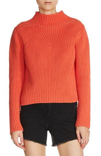 Women's Maje Funnel Neck Sweater, Size 1 - Orange