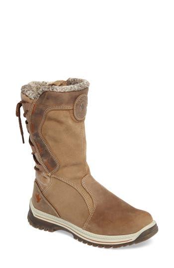 Santana Canada Mayer Faux Fur Lined Waterproof Boot, Brown
