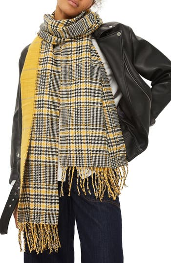 Women's Topshop Double Face Plaid Scarf