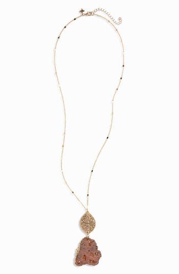 Women's Panacea Agate Beaded Pendant Necklace