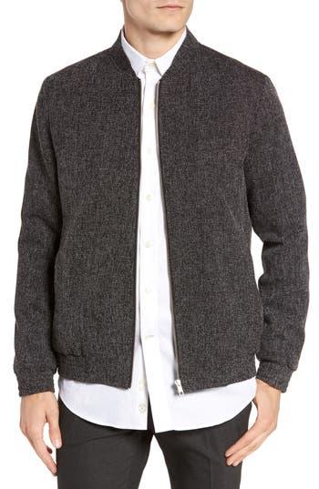 Men's Topman Grey Harvey Bomber Jacket