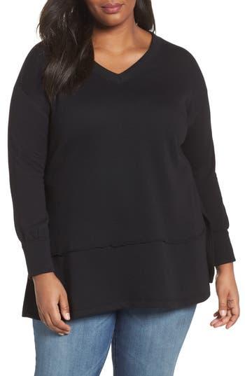 Plus Size Women's Caslon Back Cutout V-Neck Tunic