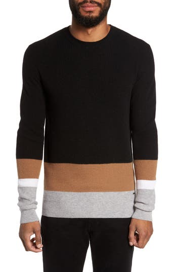 Men's Boss Nemon Colorblock Crewneck Sweater