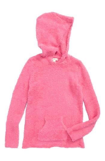 Girl's Tucker + Tate Teddy Yarn Hooded Tunic, Size 4 - Pink