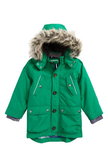 Toddler Boy's Mini Boden Waterproof Parka