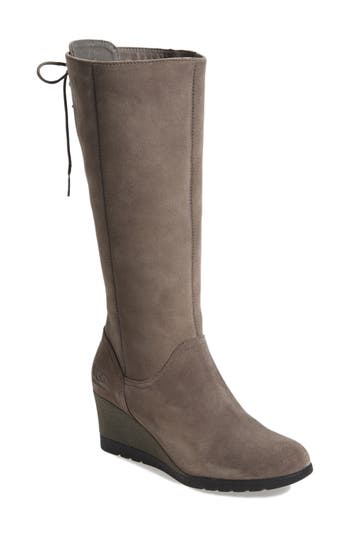 Ugg Dawna Waterproof Wedge Boot, Grey