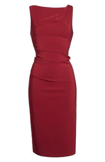 Women's Maria Bianco Nero Courtney Drape Front Sheath Dress