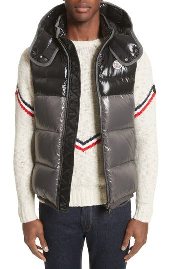 Men's Moncler Balmat Quilted Down Vest With Detachable Hood