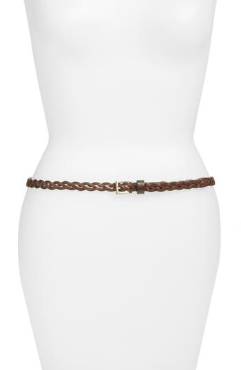 Elise M. Lawrence Braided Leather Belt, Capp