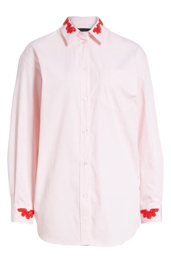 Women's Simone Rocha Beaded Pinstripe Shirt