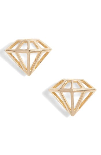 Women's Poppy Finch Diamond Shape Stud Earrings