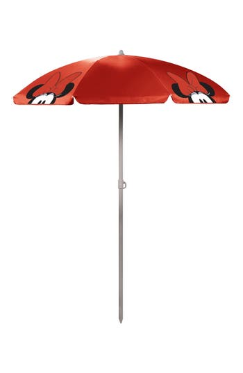Picnic Time Disney Mickey Mouse Portable Beach & Picnic Umbrella, Size One Size - Red