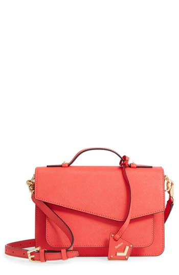 Botkier Cobble Hill Leather Crossbody Bag - Red