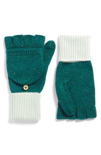 Women's J.crew Glitten Cashmere Gloves, Size One Size - Blue/green