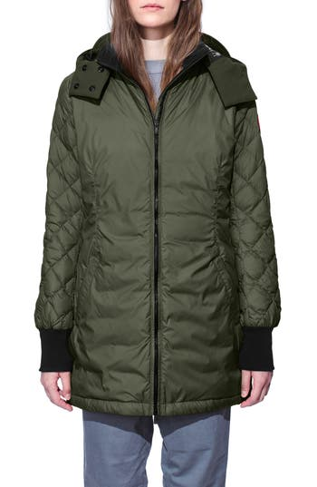 Canada Goose Stellarton Slim Fit Down Coat, (0) - Green