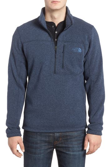 The North Face Gordon Lyons Quarter-Zip Fleece Jacket, Blue