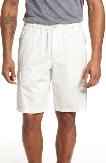 Big & Tall Tommy Bahama Island Survivalist Cargo Shorts, White