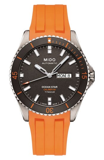Mido Ocean Star Automatic Rubber Strap Watch, 42Mm -  M0264304706100