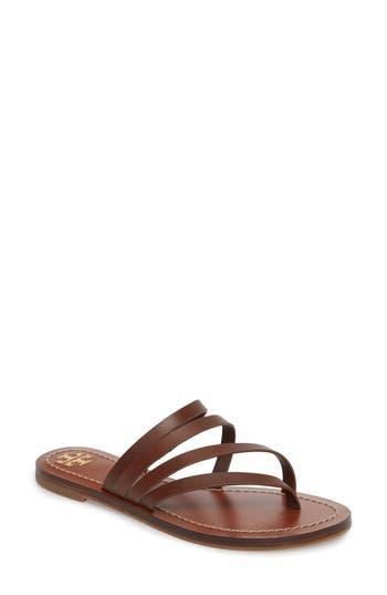 Women's Tory Burch Patos Sandal, Size 5.5 M - Beige