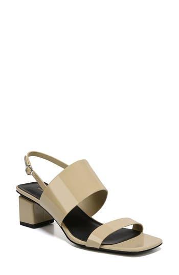 Women's Via Spiga Forte Block Heel Sandal, Size 6 M - Beige