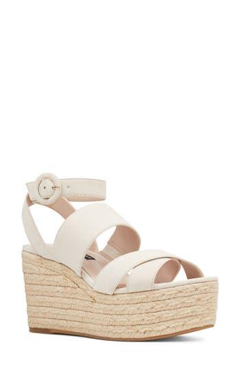 Women's Nine West Kushala Espadrille Platform Wedge Sandal, Size 11 M - White