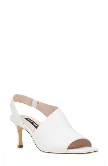 Women's Nine West Orrus Asymmetrical Sandal, Size 10.5 M - White