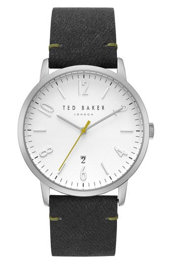 Ted Baker London Daniel Synthetic Strap Watch, 42Mm